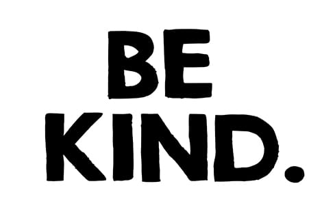 Be Kind stencil.