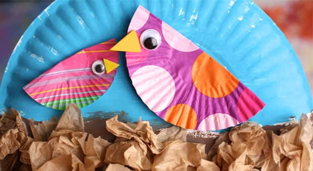 Paper Plate Birds-in-a-Nest Craft   Play   CBC Parents