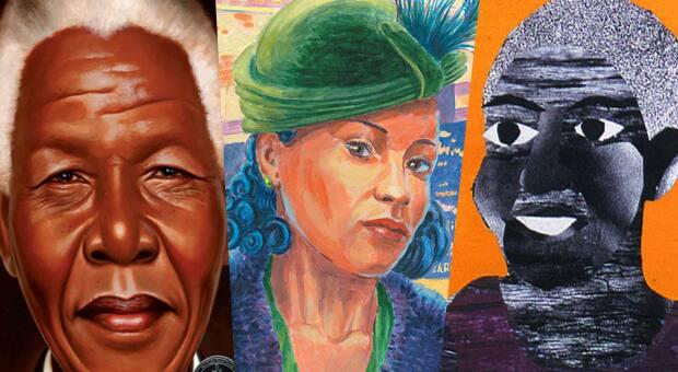Book Covers of Nelson Mandela by Kadir Nelson, Viola Desmond Won't Budge by Jody Nyasha Warner and Richard Rudnicki and Nana's Cold Days