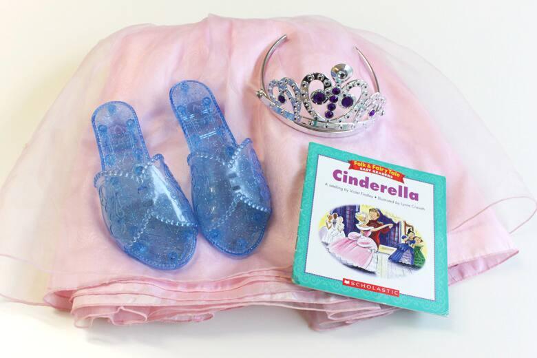A dress-up set based on Cinderella.