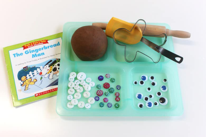 A play dough tray based on the children's book
