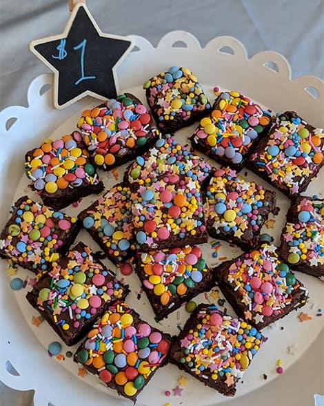 Brownies with sprinkles!