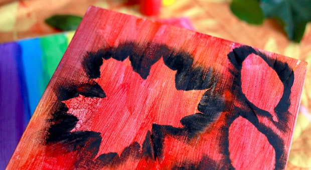 a nature craft inspired by fall leaves