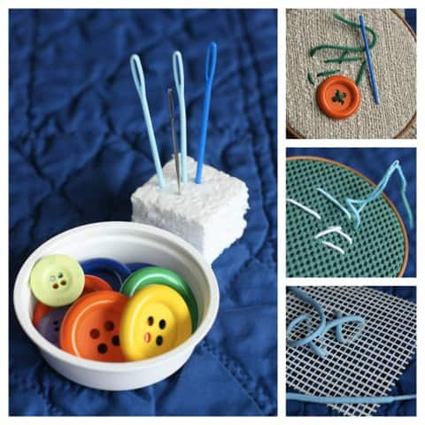 needle craft ideas activity for my sewing basket play cbc parents 2544