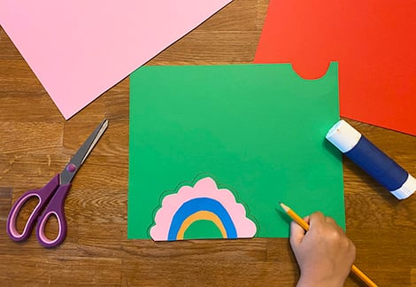 drawing flower around semicircle