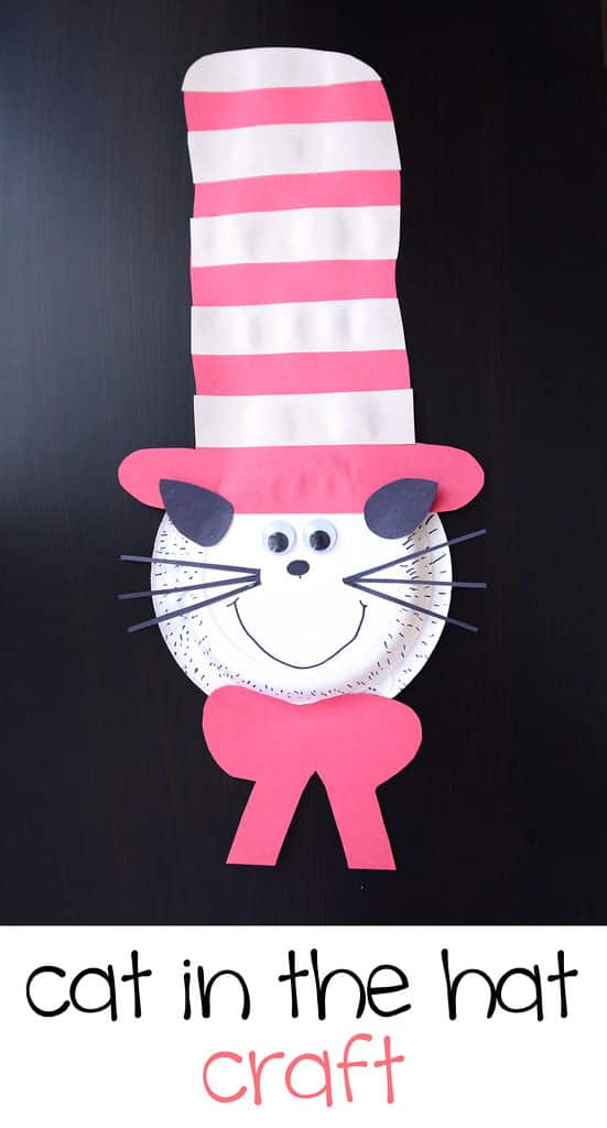 Easy Craft for Kids: Paper Plate Cat in the Hat   Play
