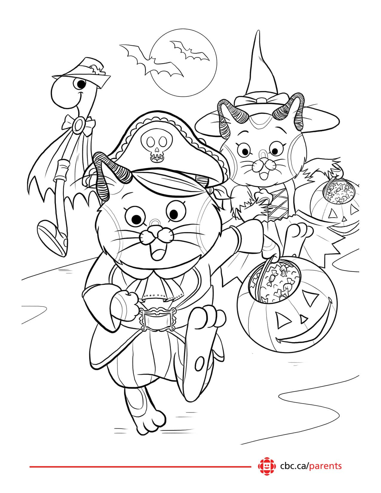 printable halloween colouring pages play cbc parents