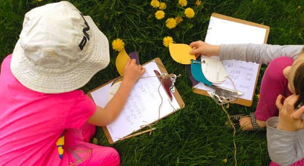Colour Match Nature Walk With Paint Chips Play Cbc Parents