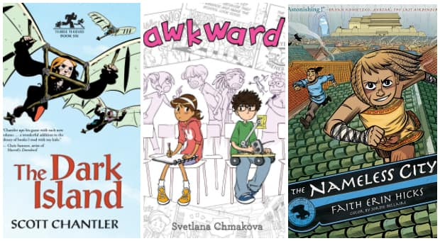 3 Canadian comics for older kids: The Dark Island, Awkward and The Nameless City