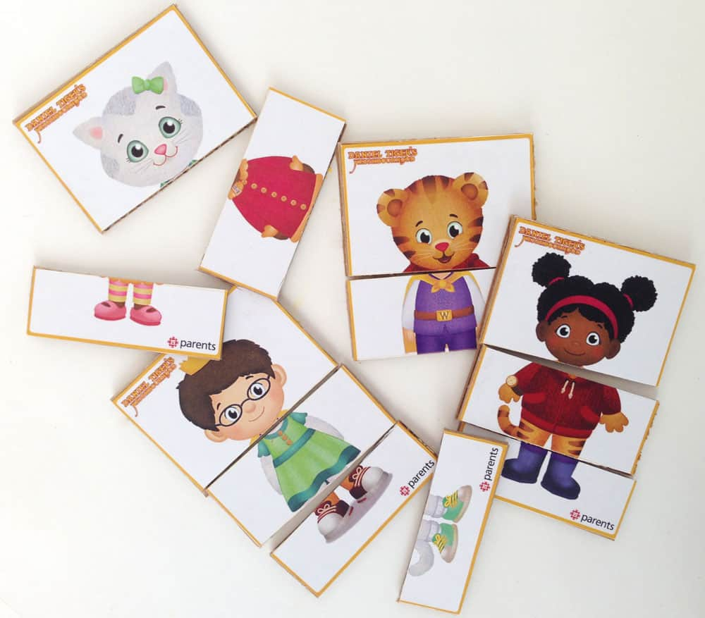 daniel tiger mix-and-match printable play cards | play | cbc parents