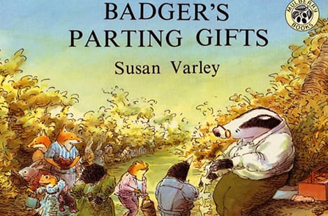 Book cover: Badger's Parting Gifts (Susan Varley)