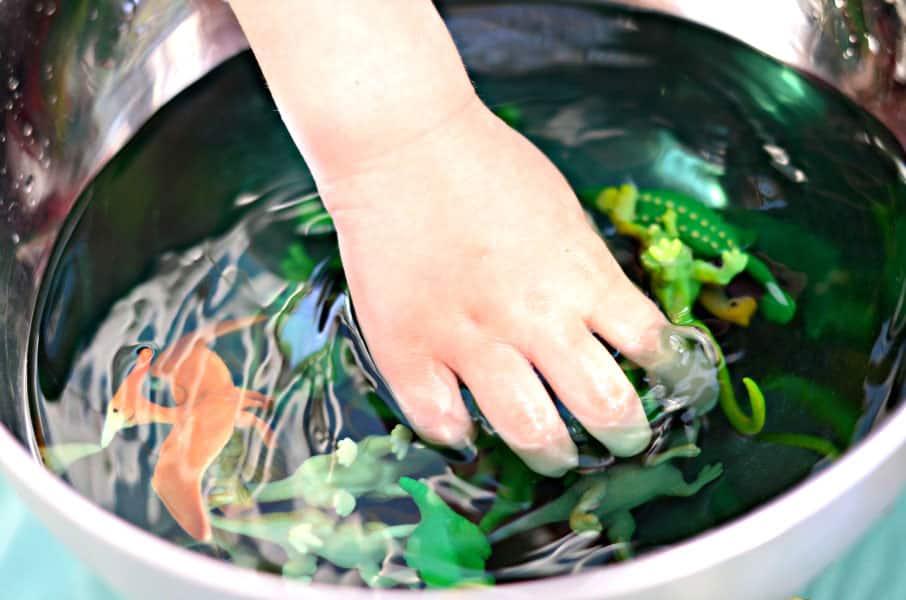 Dinosaur Sensory Soup Water Play Activity Play Cbc