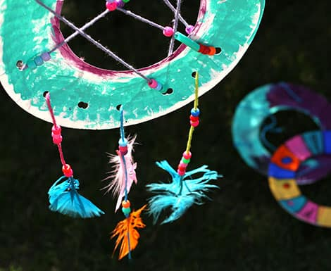 A Finished Dream Catcher Hanging