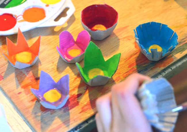 Simple And Lovely Egg Carton Bouquet Play Cbc Parents