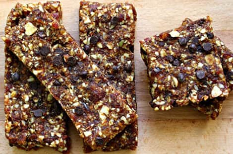 A final picture of homemade energy bars