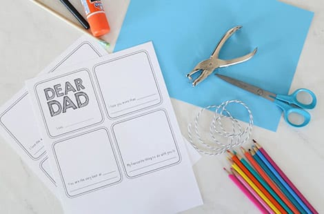 Dear Dad A Printable Book For Father S Day Play Cbc Parents
