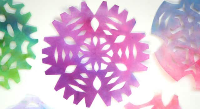 Beautiful Craft For Kids Coffee Filter Snowflakes Play Cbc Parents