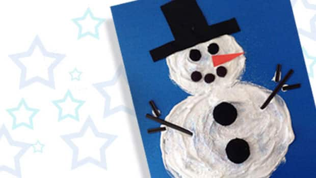Art Project For Kids Puffy Shaving Cream Snow Man Painting