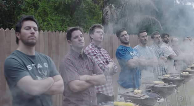 men saying boys will be boys in Gillette ad We Believe: The Best Men Can Be