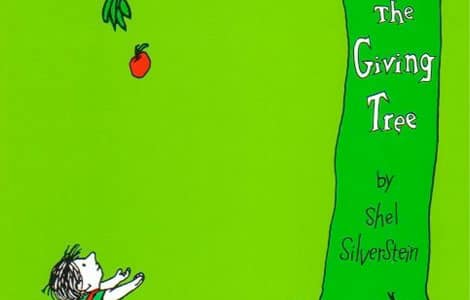 Part of the cover of The Giving Tree by Shel Silverstein