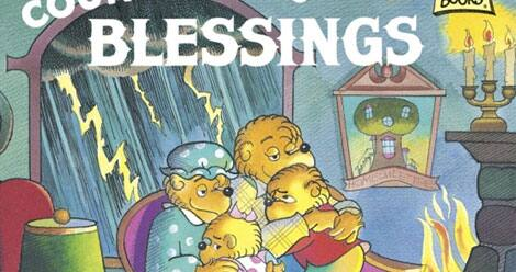 Image from the cover of The Berenstain Bears Count Their Blessings