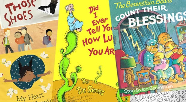 A collage of the books featured