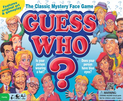 The box of the game Guess Who?