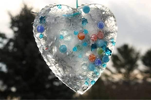 Winter Nature Craft Beautiful Ice Moulds And Suncatchers Play