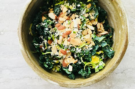 Kale and brussles sprout salad.