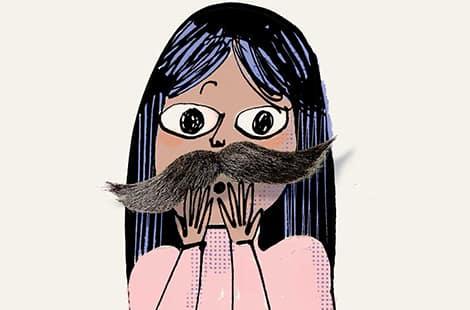 Book cover: Karma Khullar's Mustache by Kristi Wientge