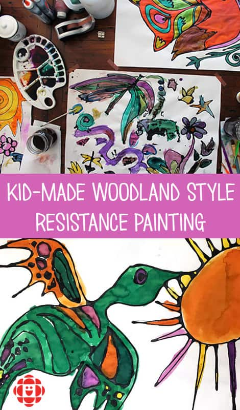 Kid-Made Woodland-Style Resistance Painting | Play | CBC Parents