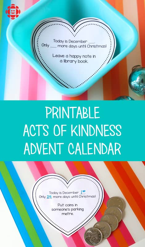 Acts Of Kindness Advent Calendar Play Cbc Parents