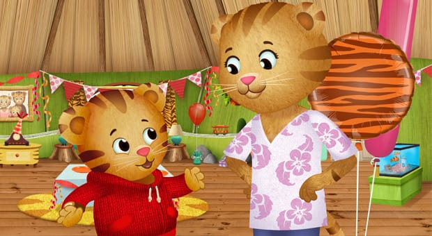 Daniel Tiger and his mom.