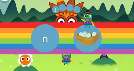 Screenshot from Teach Your Monster to Read