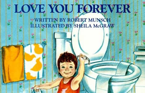 Part of the cover of Love You Forever