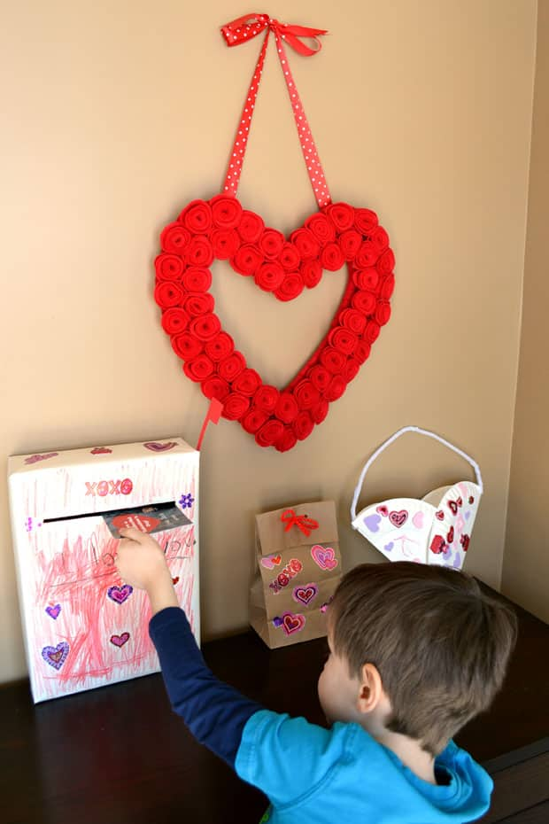 cereal box mailbox 1 gather your supplies youll need a cereal box paper to wrap the box red cardstock a head paper fastener tape scissors - Valentine Mailboxes