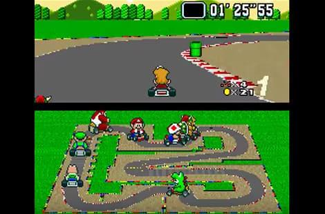 Super Mario Kart game