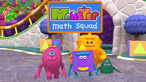 Title card from Monster Math Squad