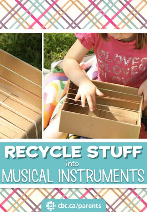Recycle stuff into musical instruments