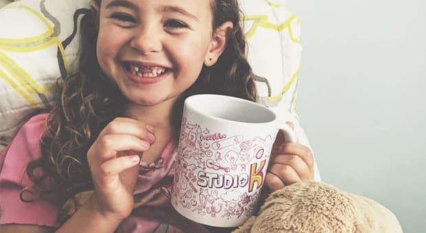 An adorable girl smiling.