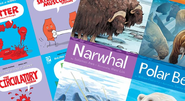 a collection of nonfiction books for children ages 4 and up