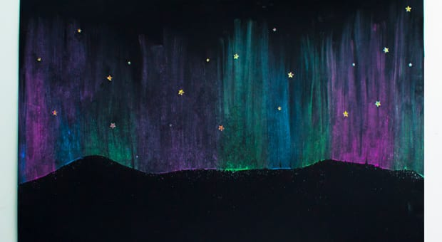 The northern lights drawing