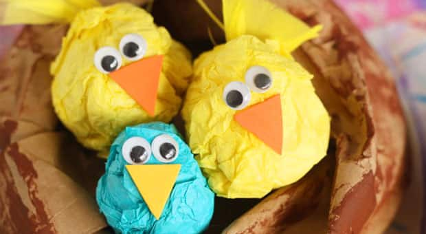 Cute Spring Craft Paper Chicks In Paper Nests Play Cbc Parents