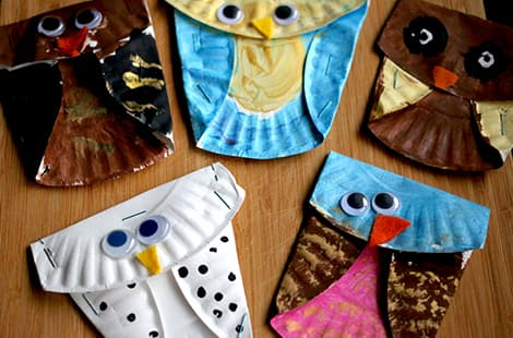 Several finished owls.