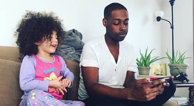 a father tries to find the words to discuss gun violence with his daughter
