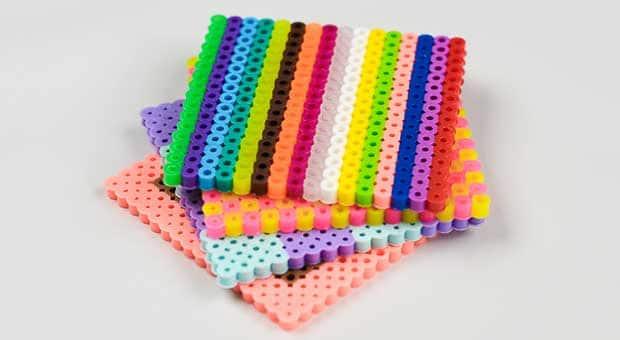Perler bead beverage coasters