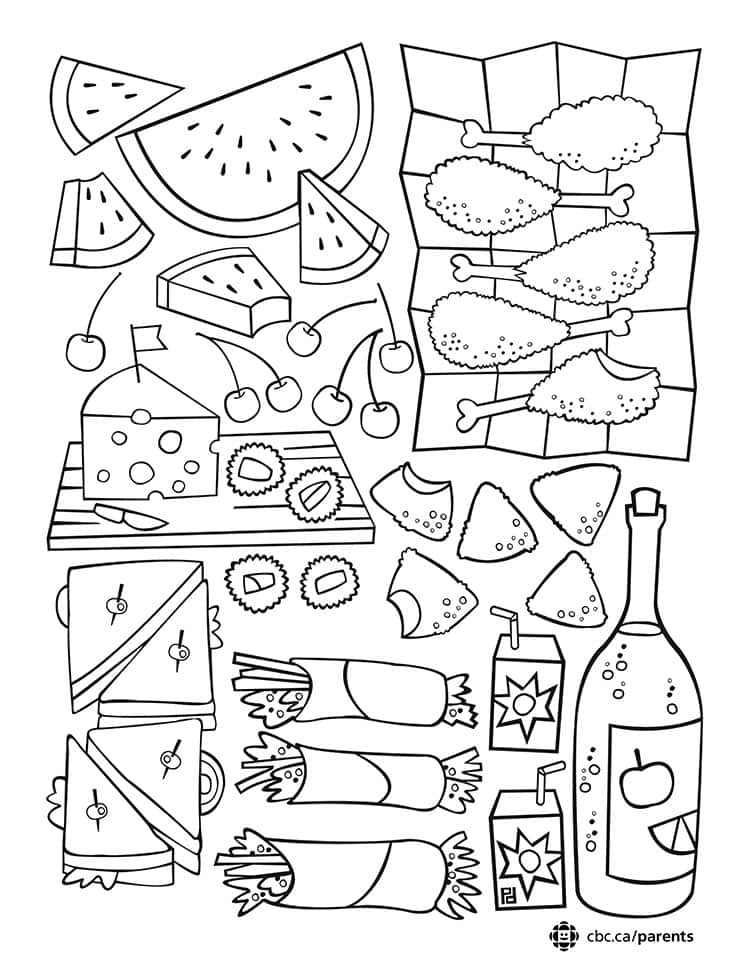 Picnic Colouring Printable: Take a Break and Colour Together! | Play ...