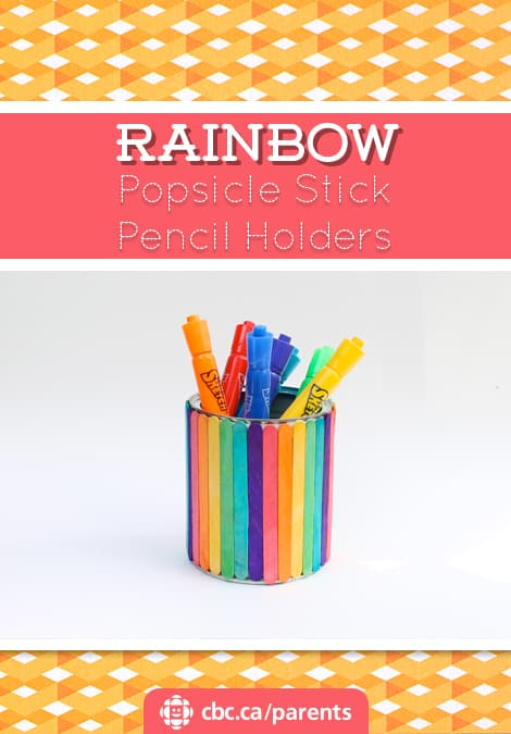 craft sticks rainbow craft rainbow popsicle stick pencil holder play cbc parents 4062