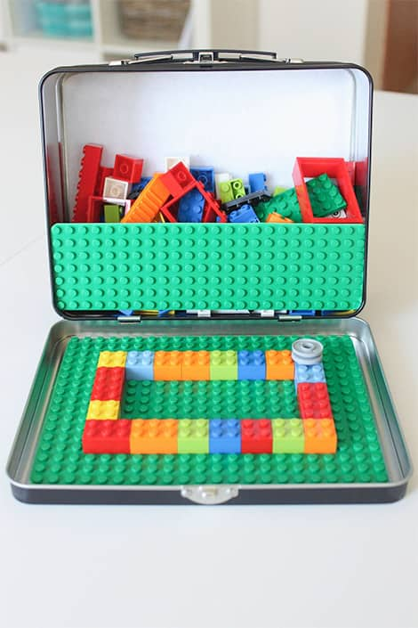 A lunch box full of lego!