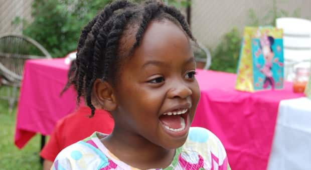 Little black girl with a big smile